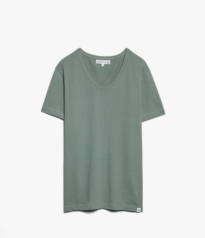 Women's <br/>19.70sBFC boyfriend V-neck <br/>light army