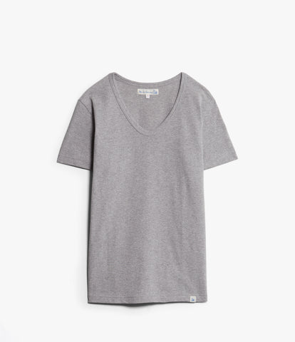 Women's <br/>1970sBFC boyfriend V-neck <br/>grey mel.