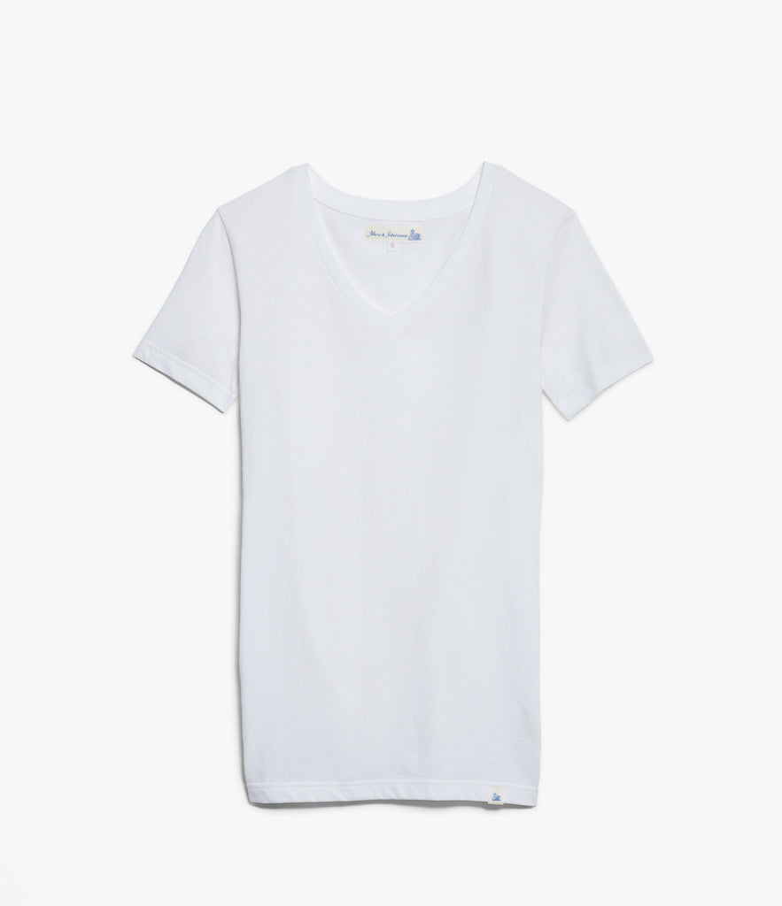 Women's <br/>19.70sw fitted V-neck <br/>white