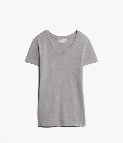 Women's<br/>19.70sw fitted V-neck<br/>grey mel.