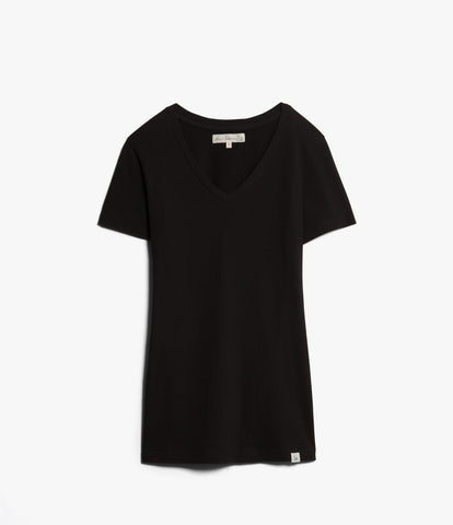 Women's <br/>19.70sw fitted V-neck <br/>deep black
