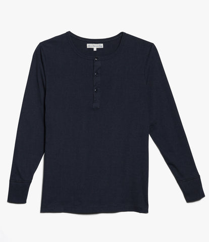 1930s henley long sleeve<br/>dark navy