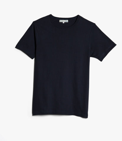 1950's crew neck T-Shirt<br/>dark navy