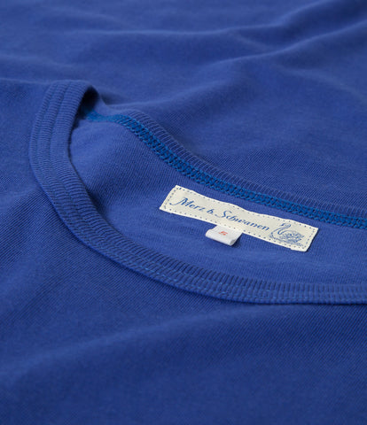 1950's crew neck T-Shirt<br/>electric blue