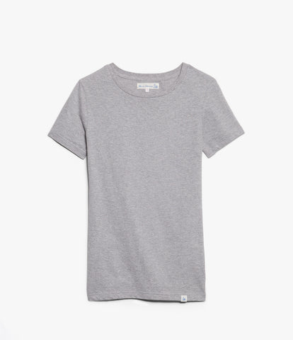 Women's <br/>19.50sw fitted crew <br/>grey mel.