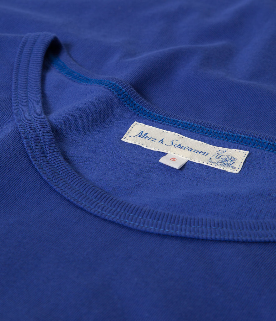 1960's army tee<br/>electric blue