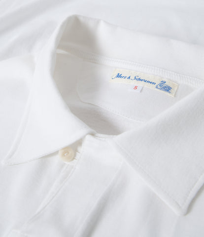 Men's<br/>1968 polo shirt 1/4 slv. with chest pocket<br/>white