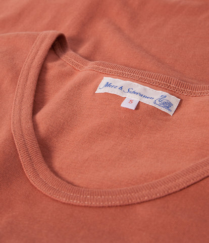 Men's <br/>1970's v-neck tee <br/>light rust