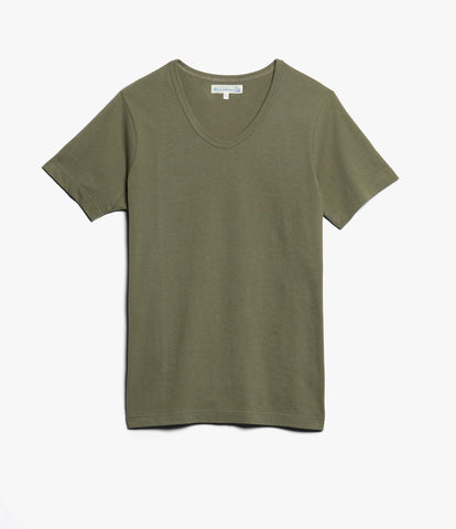1970's v-neck tee<br/>army