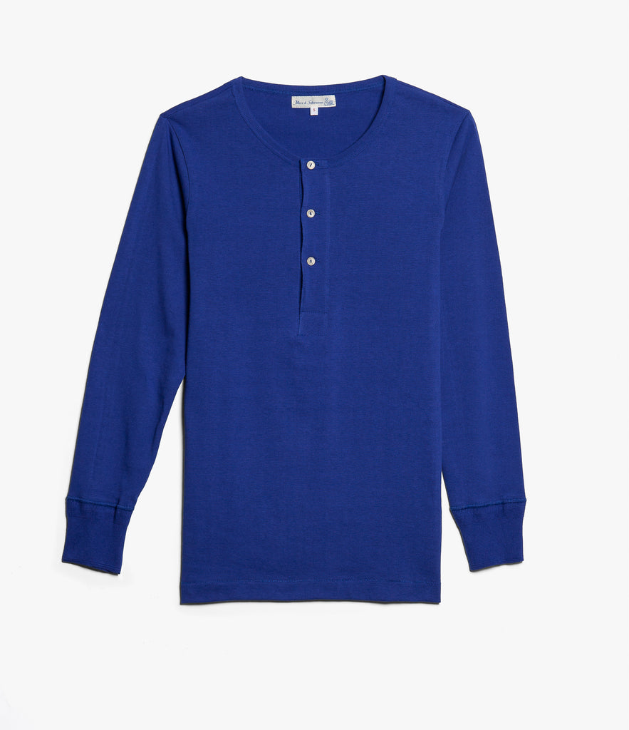 206 henley long sleeve<br/>electric blue
