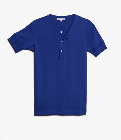 207 henley short sleeve<br/>electric blue