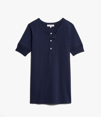 Men's <br/>207 henley short sleeve <br/>ink blue