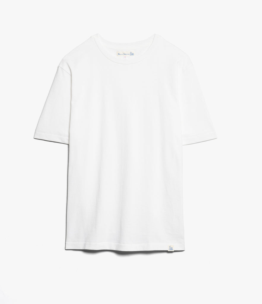 215OS oversized classic crew neck T-shirt<br/>white