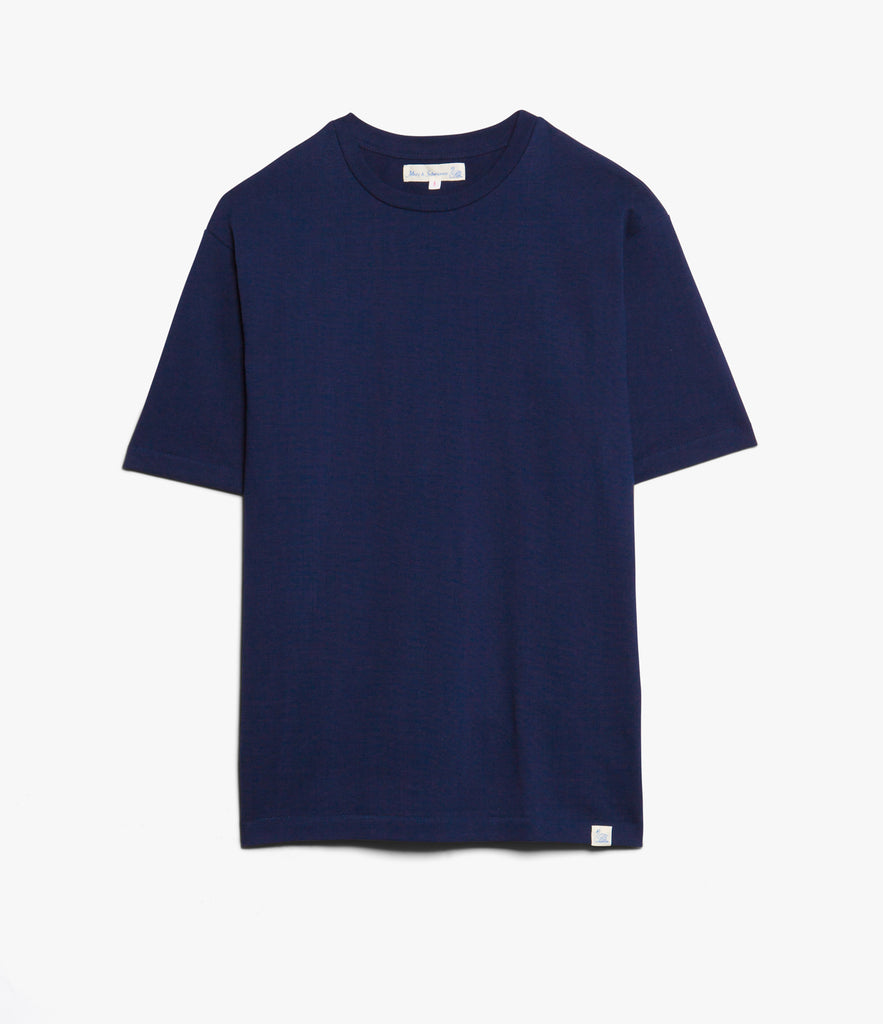 Men's <br/>215OS oversized classic crew neck T-shirt <br/>ink blue