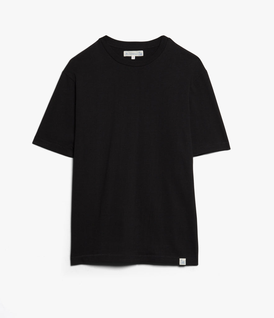 Men's <br/>215OS oversized classic crew neck T-shirt <br/>deep black