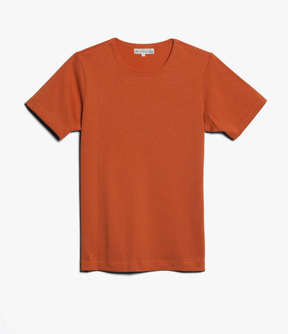 215 classic crew neck T-shirt<br/>rust