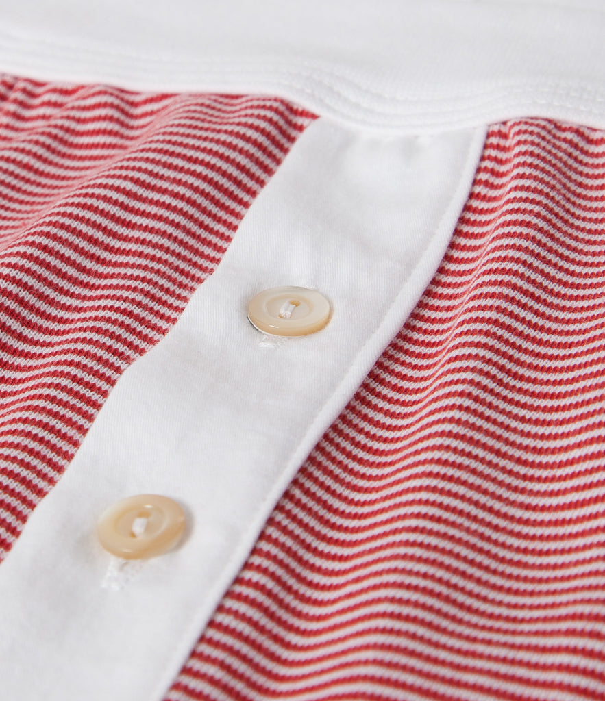 255 button facing underpants<br/>red-white