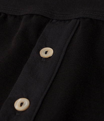 Men's <br/>255 button facing underpants <br/>deep black