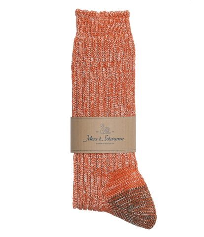 Unisex <br/>271 cotton socks <br/>rust-nature mel.