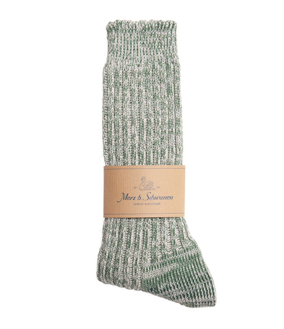 Unisex <br/>271 cotton socks <br/>green mel.