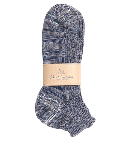 274 cotton sneaker socks<br/>navy-grey