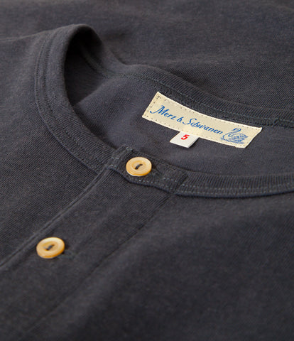 Men's <br/>2H06 hemp-cotton henley long sleeve <br/>navy