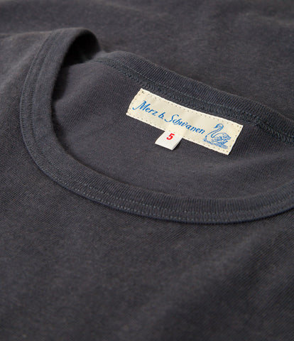 Men's <br/>2H15 hemp-cotton classic crew neck T-shirt <br/>navy