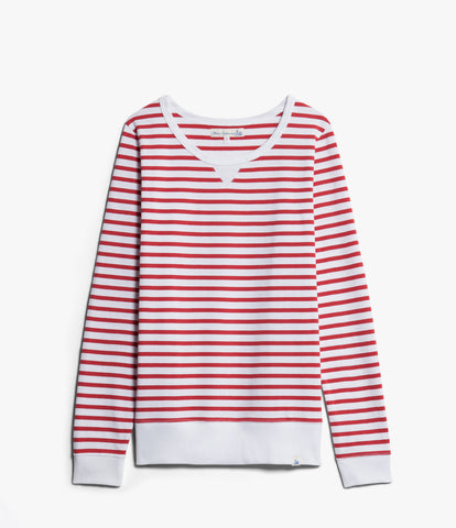 Women's <br/>2M.CS classic sweatshirt striped <br/>red-white