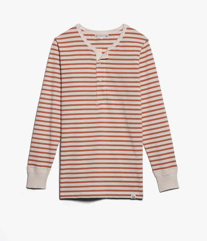 Men's <br/>2M06 henley long sleeve<br/>nature-light rust