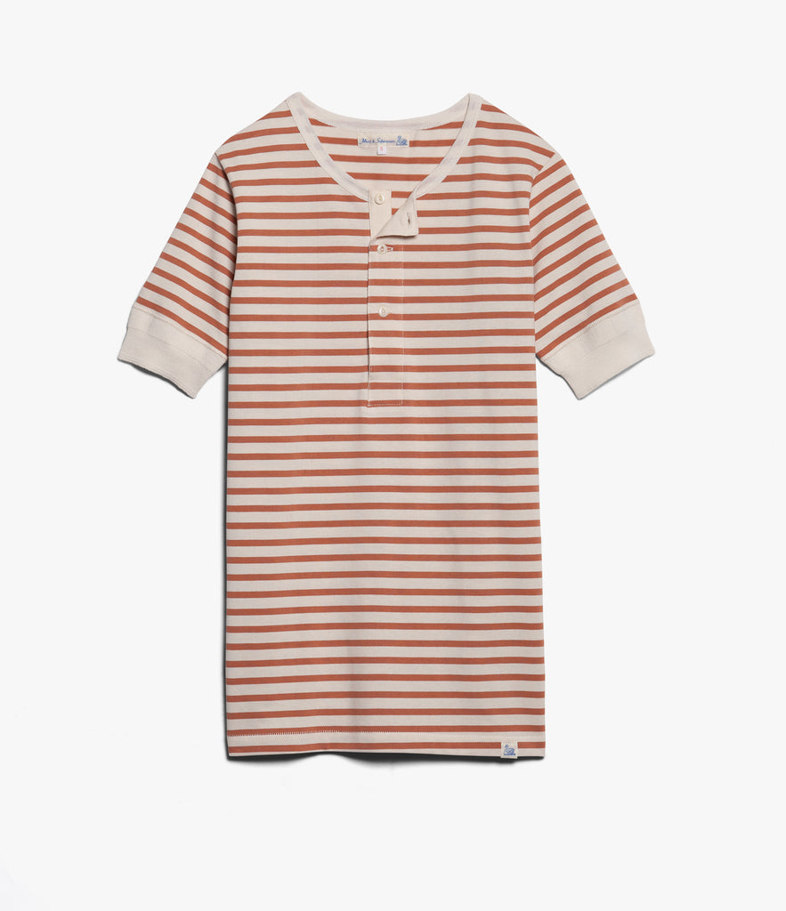 Men's<br/>2M07 henley short sleeve<br/>nature-light rust