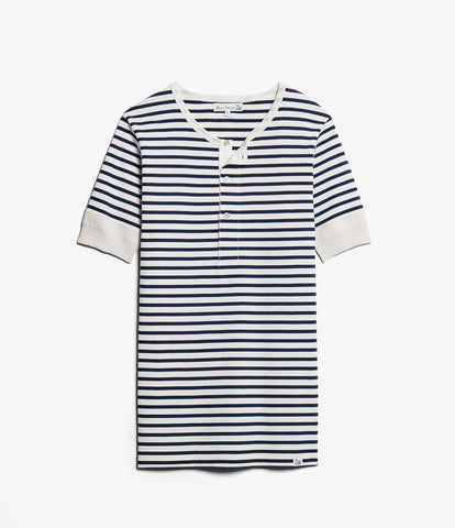 Men's <br/>2M07 henley short sleeve <br/>ink blue-nature