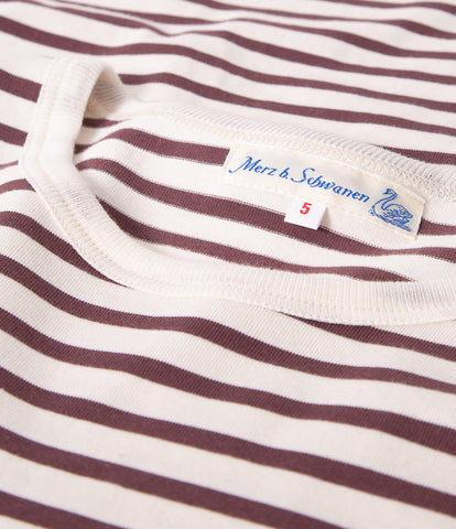 Men's<br/>2M12 striped crew neck long sleeve<br/>red oak-nature