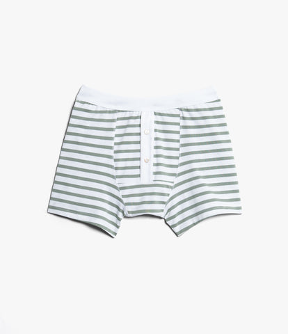 Men's <br/>2M55 button facing underpants <br/>white-light army