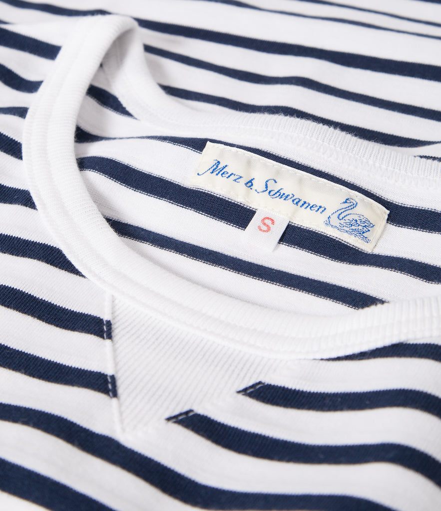 Women's <br/> 2M.CS striped classic sweatshirt <br/> ink-white