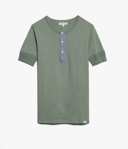 Men's<br/>2P27 henley short sleeve<br/>light army