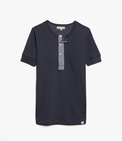 Men's <br/>2P27 pikee henley short sleeve <br/>navy