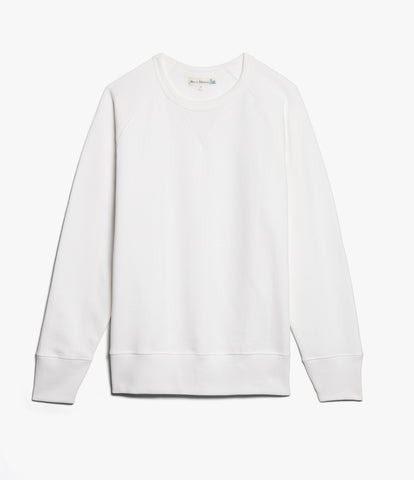 Men's <br/>342 crew-neck raglan sweatshirt long slv. <br/>white