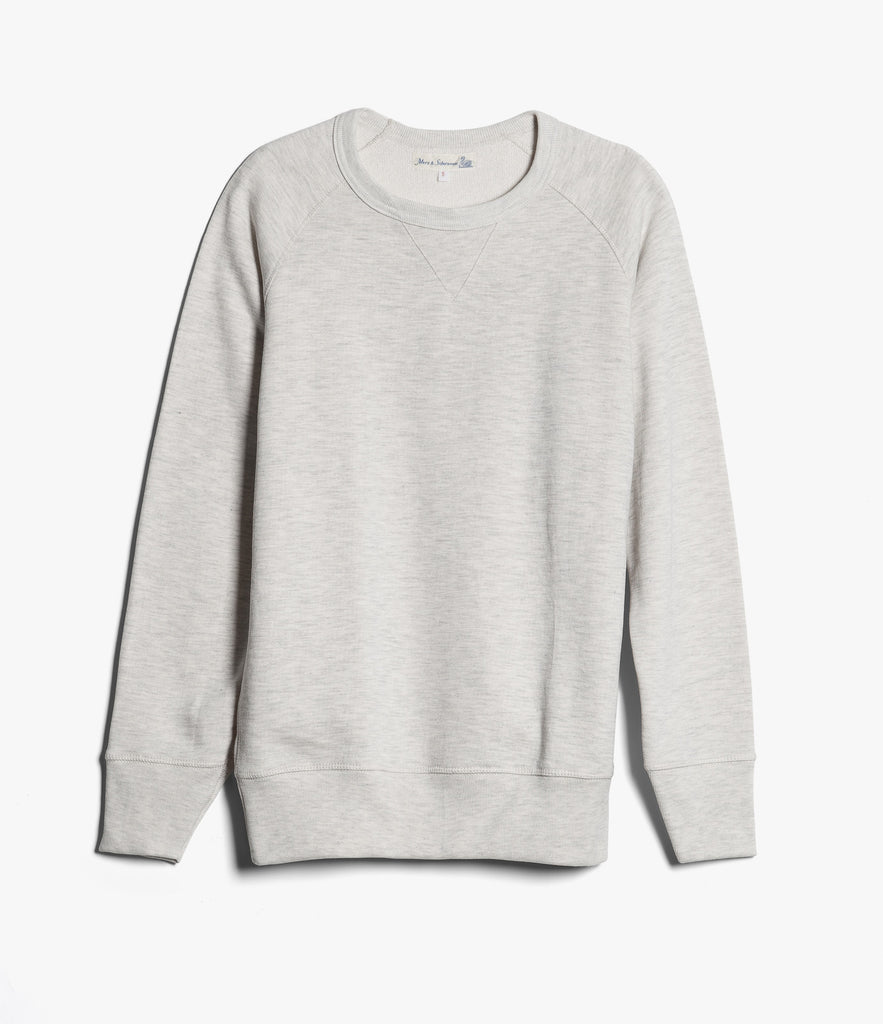 342 crew-neck raglan sweatshirt long slv.<br/>nature mel.