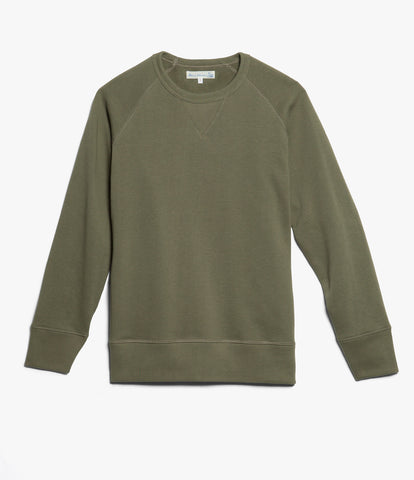 342 crew-neck raglan sweatshirt long slv.<br/>army