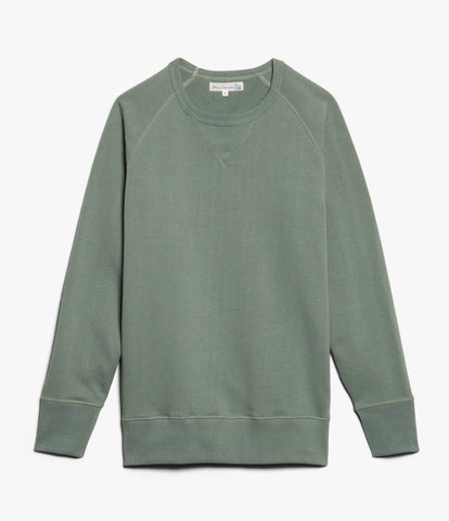 Men's<br/>342 crew-neck raglan sweatshirt long slv.<br/>light army