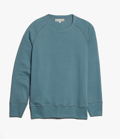 342 crew-neck raglan sweatshirt long slv.<br/>ocean