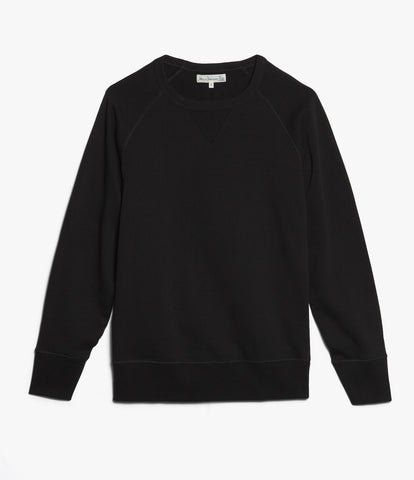 342 crew-neck raglan sweatshirt long slv.<br/>deep black