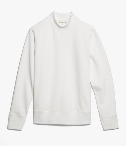 343 mock-neck sweatshirt<br/>white