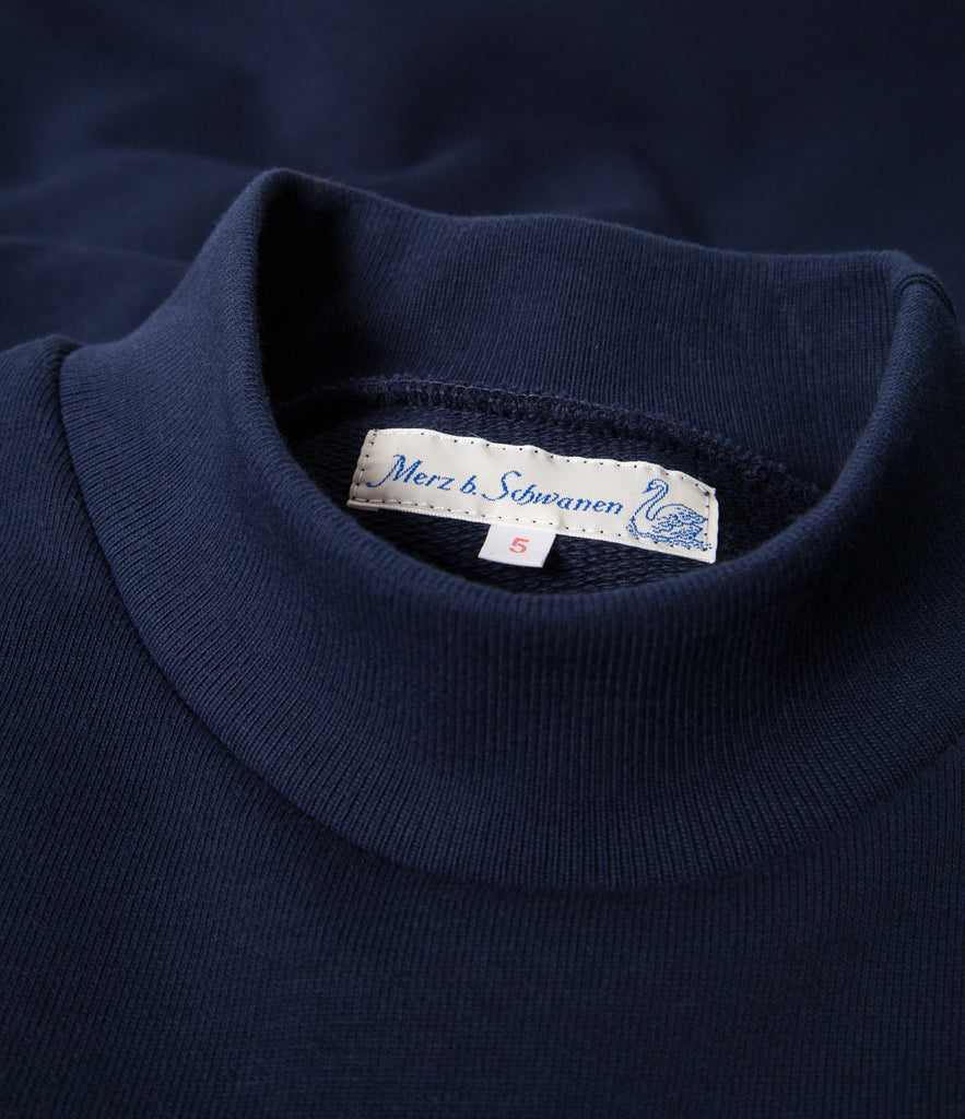 343 mock-neck sweatshirt<br/>ink blue