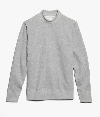 343 mock-neck sweatshirt<br/>grey mel.