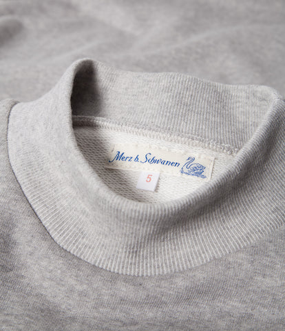 Men's <br/>343 mock-neck sweatshirt <br/>grey mel.