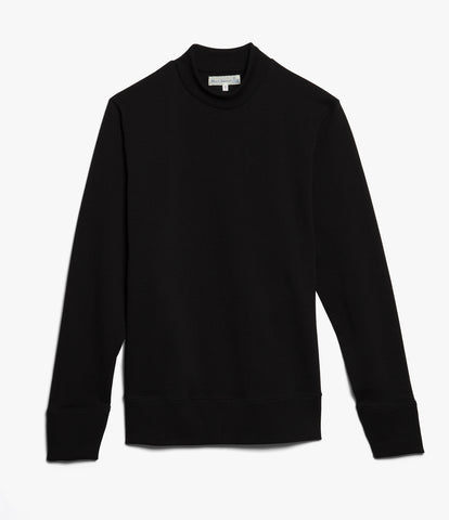 Men's <br/>343 mock-neck sweatshirt <br/>deep black