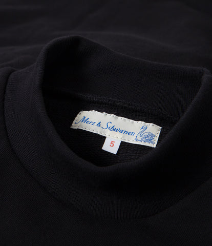 343 mock-neck sweatshirt<br/>deep black