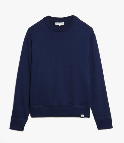 346OS oversized crew-neck sweatshirt<br/>ink blue