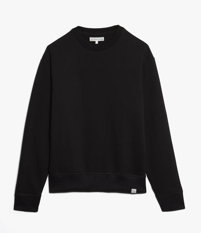 346OS oversized crew-neck sweatshirt<br/>deep black